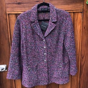 NEW St. John Caviar knit coat